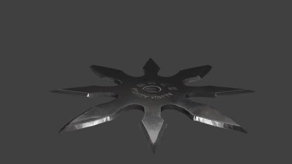 low-poly shuriken 3ds free