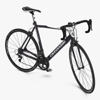 Road Bike Cannondale Rigged 3D Model