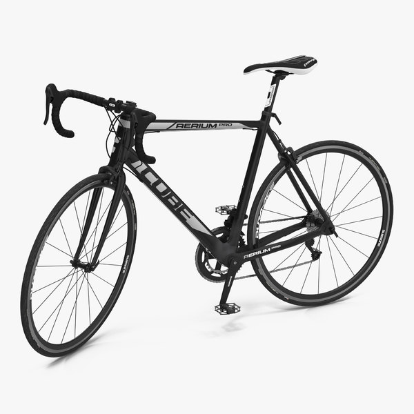 3d model road bike cube rigged