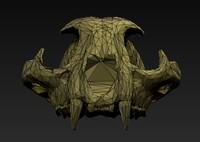 3d cat skull model