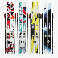 black diamond skis 3d model