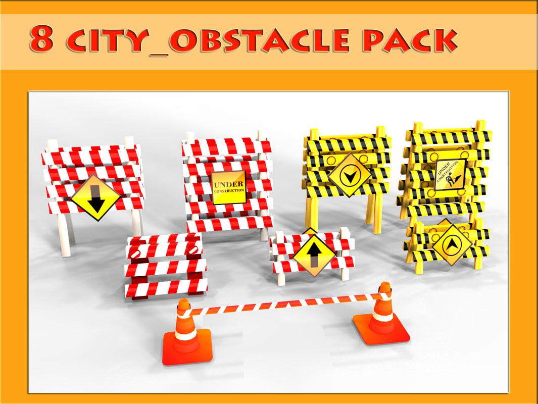 8 obstacle 3d model