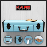 wall shelf suitcase kare 3ds