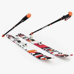 3d black diamond skis model
