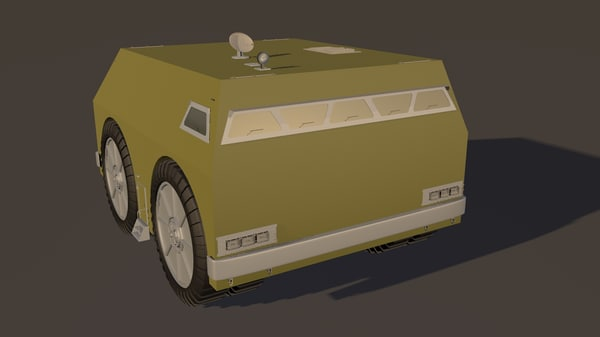 wheeled vehicle c4d free