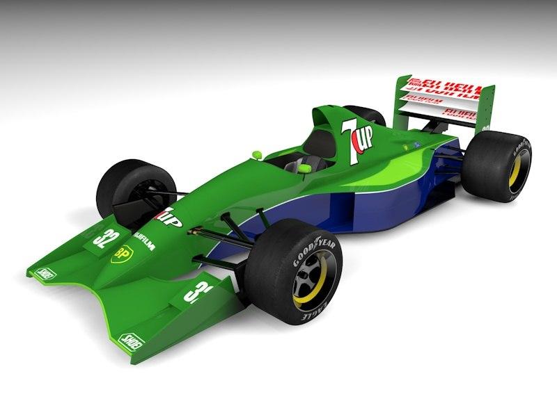 f1 car 3d dxf