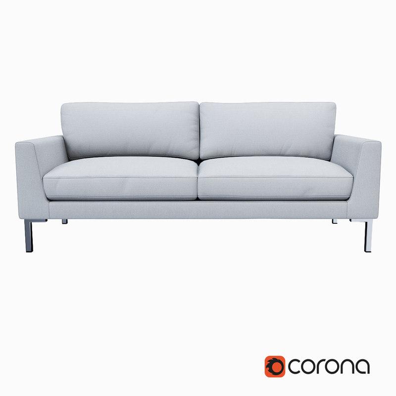 sofa west elm 3ds