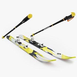 3d ski diamond model