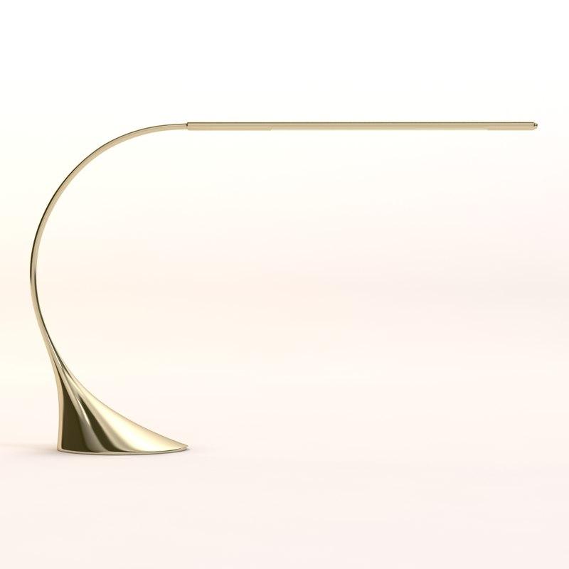 3d max toled desk lamp