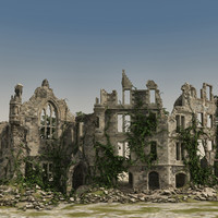 Medieval Ruined Buildings 01
