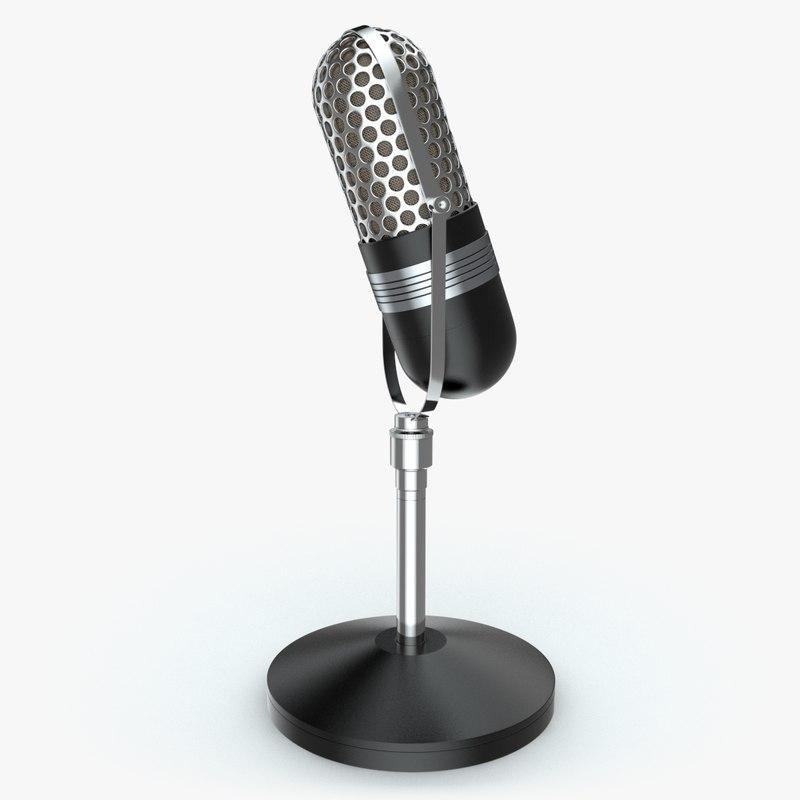 obj retro microphone 2