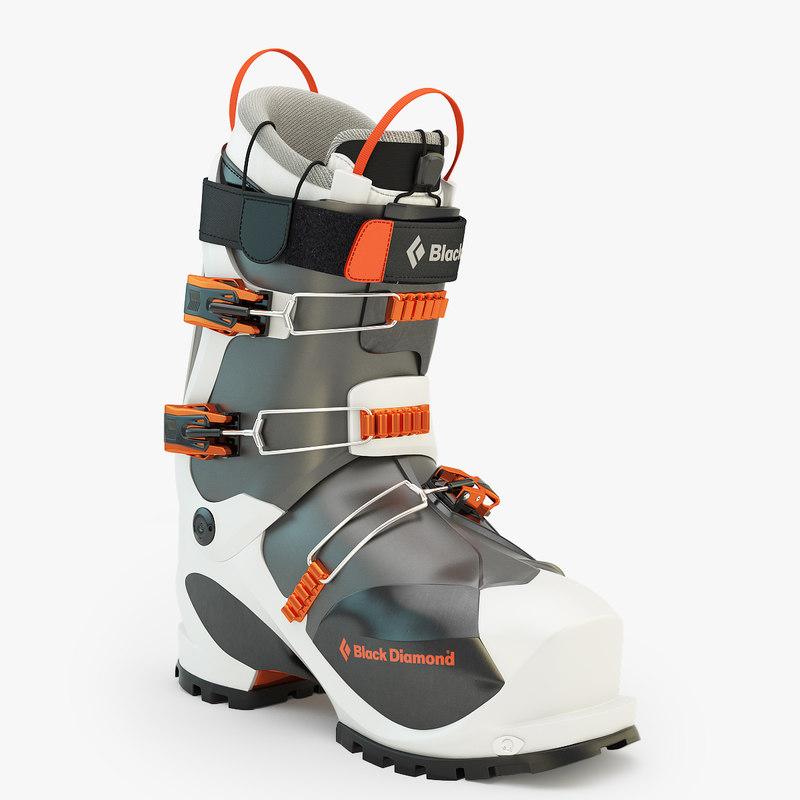 3d prime ski boot model