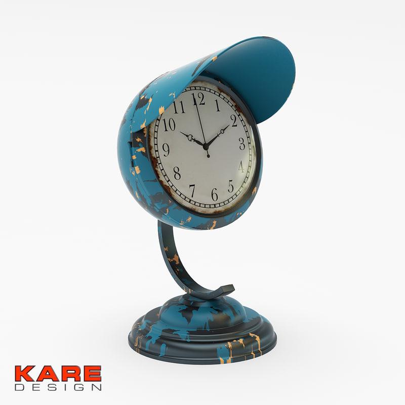 3d model vintage clock kare design