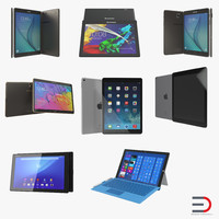 Tablets 3D Models Collection 2
