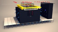 data center room 3d model