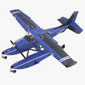 max cessna 172 blue seaplane