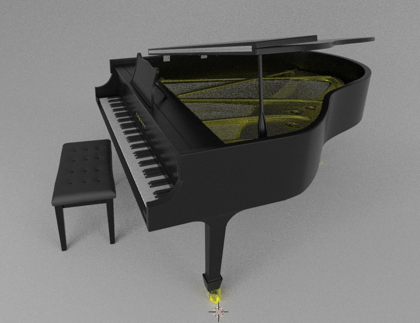 3d blend piano