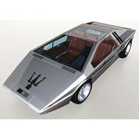 1971 maserati boomerang 3d max