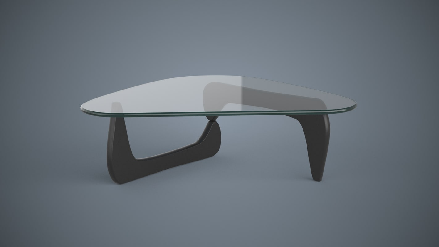 Free Obj Model Sample Coffee Table Isamu Noguchi