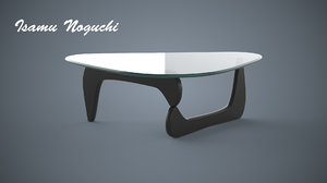 free obj model sample coffee table isamu noguchi