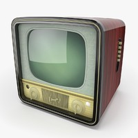 retro television 2 3d max