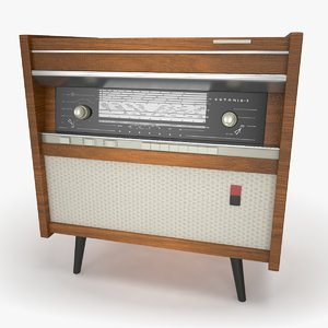 retro radiola 3d model