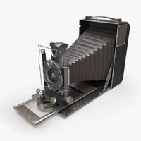 3d model of retro camera