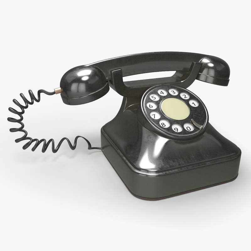 retro rotary telephone 3d model