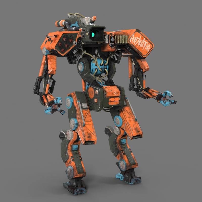 3d model robot punisher