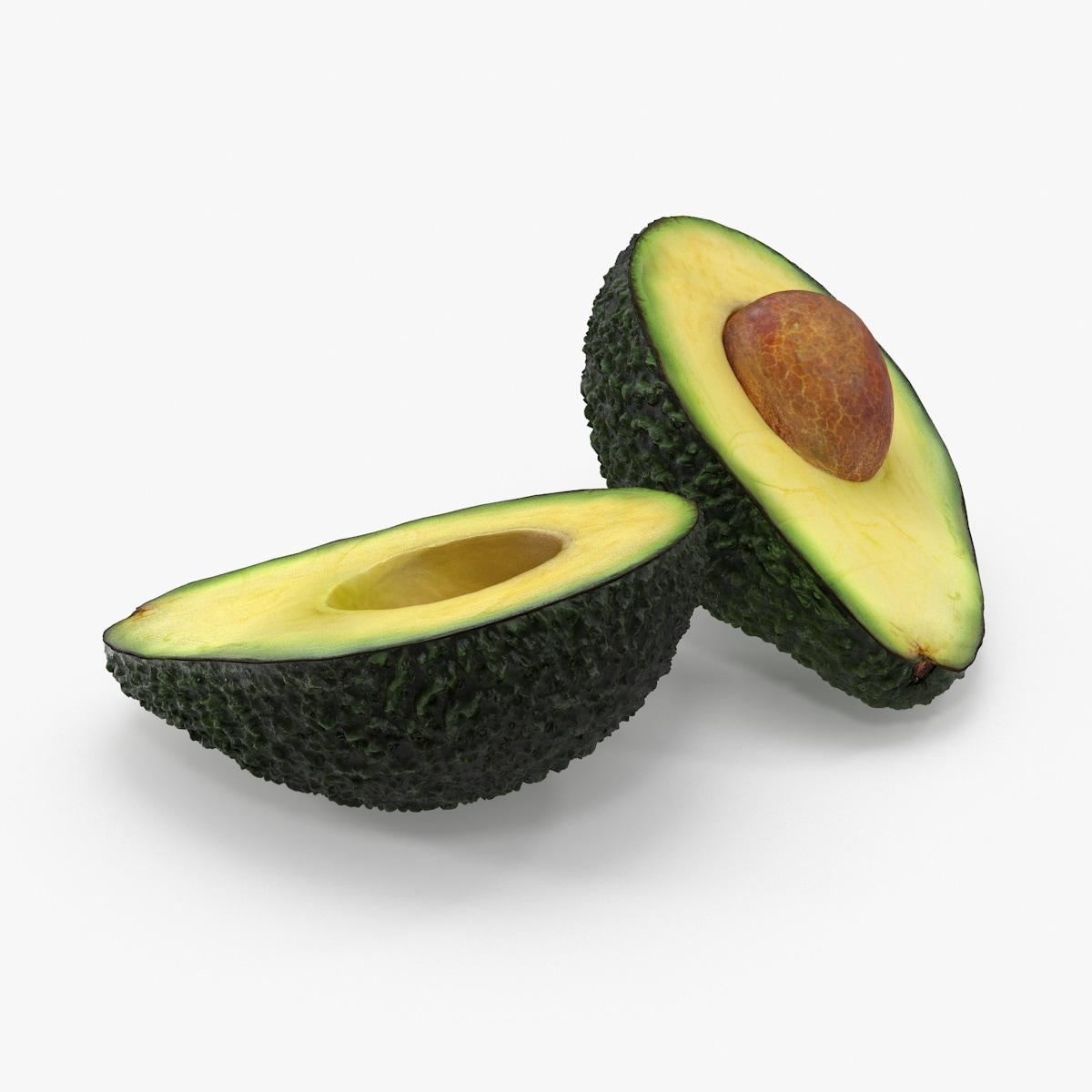 avocado cross section 3d c4d