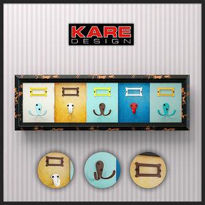 3d model hangers kare design coat rack