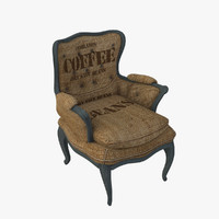 3d burlap chair