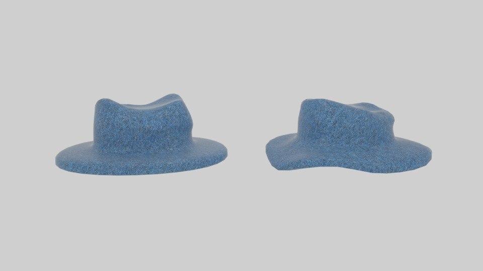 3d model cowboy hats