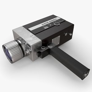 retro video camera nikon c4d