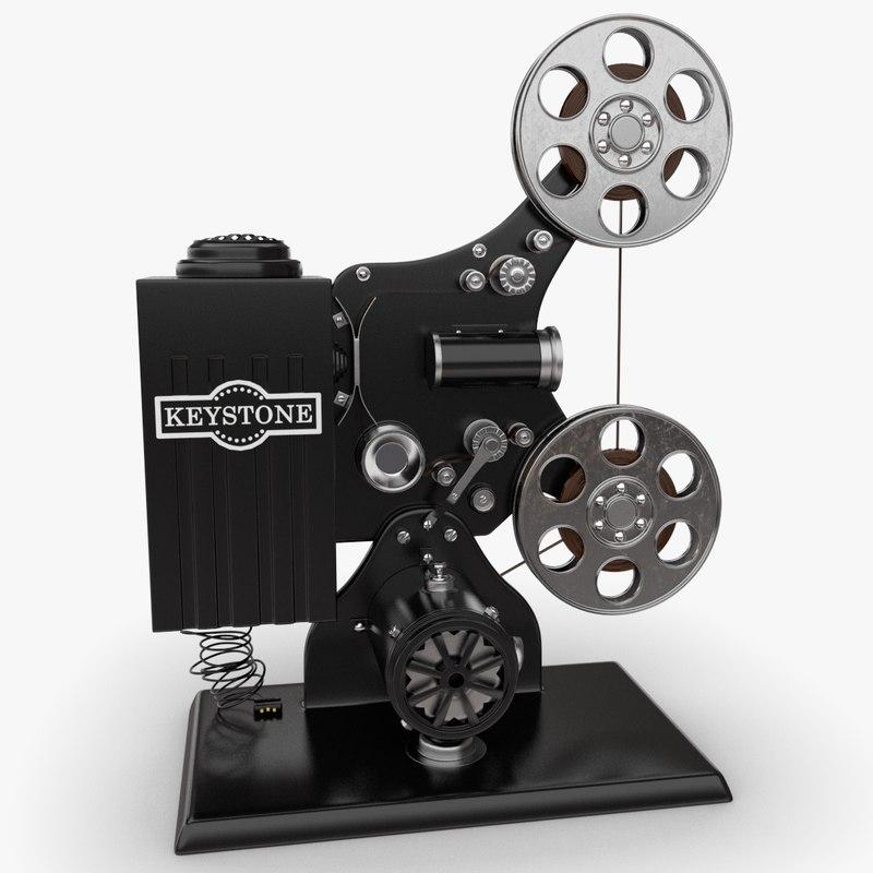 keystone film projector obj