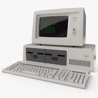 3d retro computer