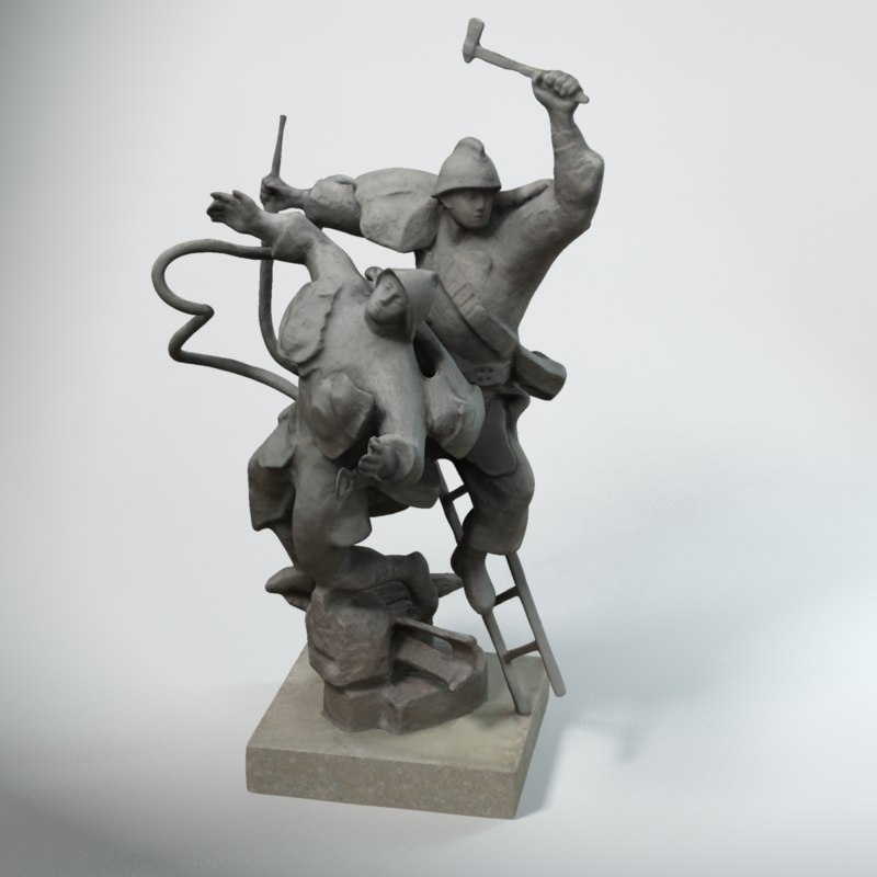 max firefighter statue st