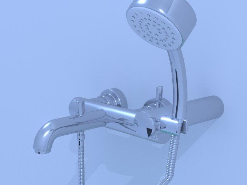 3d bath faucet model