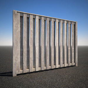 wooden picket fence 3d max