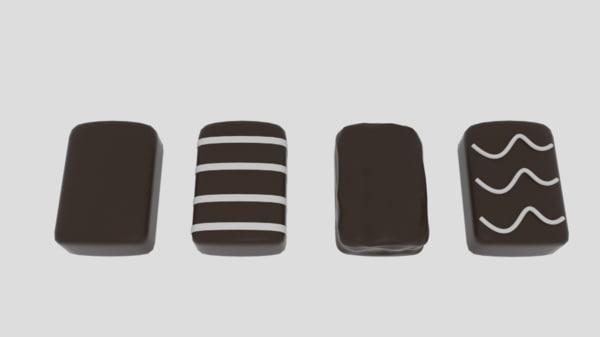 choco biscuit 3d model