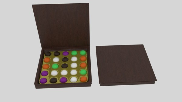 chocolate candy box 3d 3ds