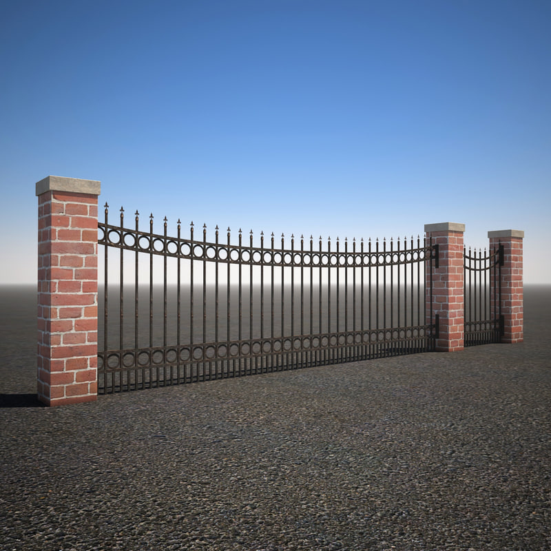 max curved wrought iron fence