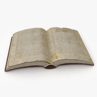 3d model old book bible