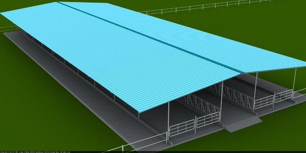 3d model of cowshed cow