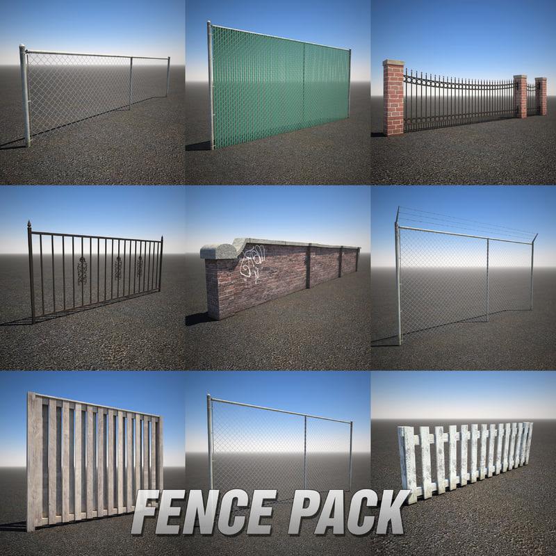 3d fence pack model
