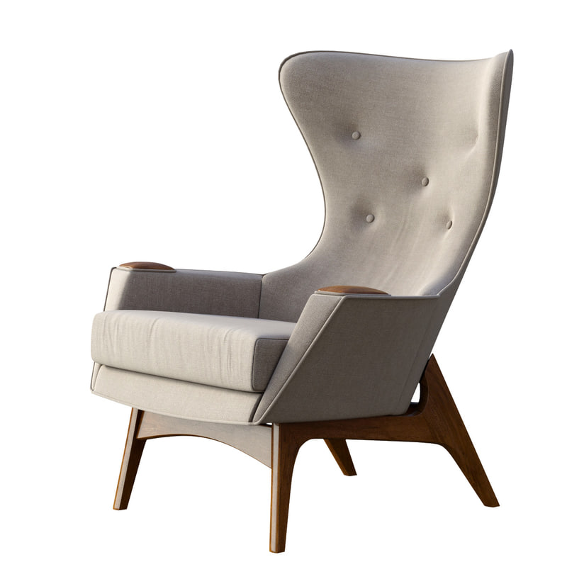 3d model adrian pearsall lounge chair