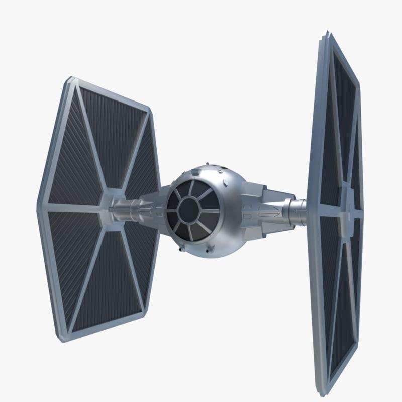 star wars fighter 3d model