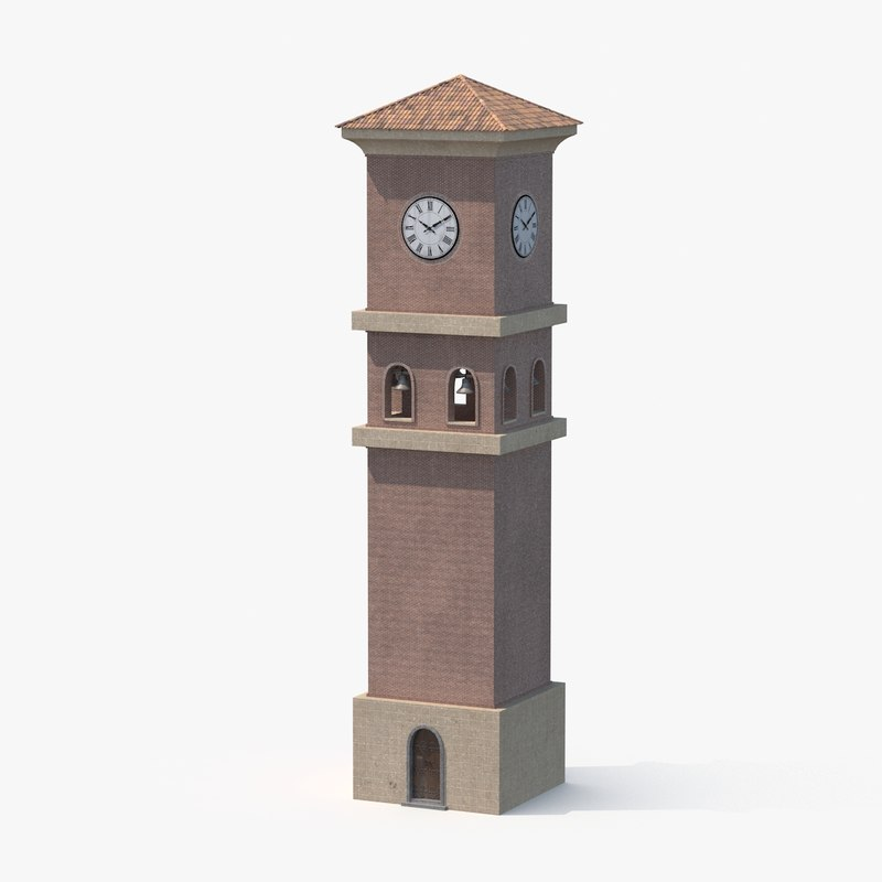 3d clock tower model