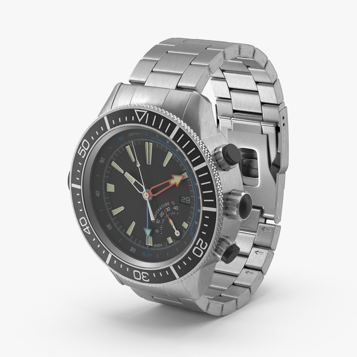 diving watch 3d max