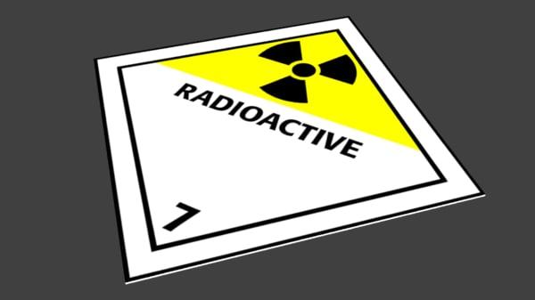radiation sign 3d 3ds